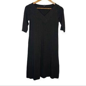 Eileen Fisher Stretch V-Neck dress Brown